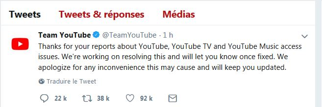 YouTube Has Been Down