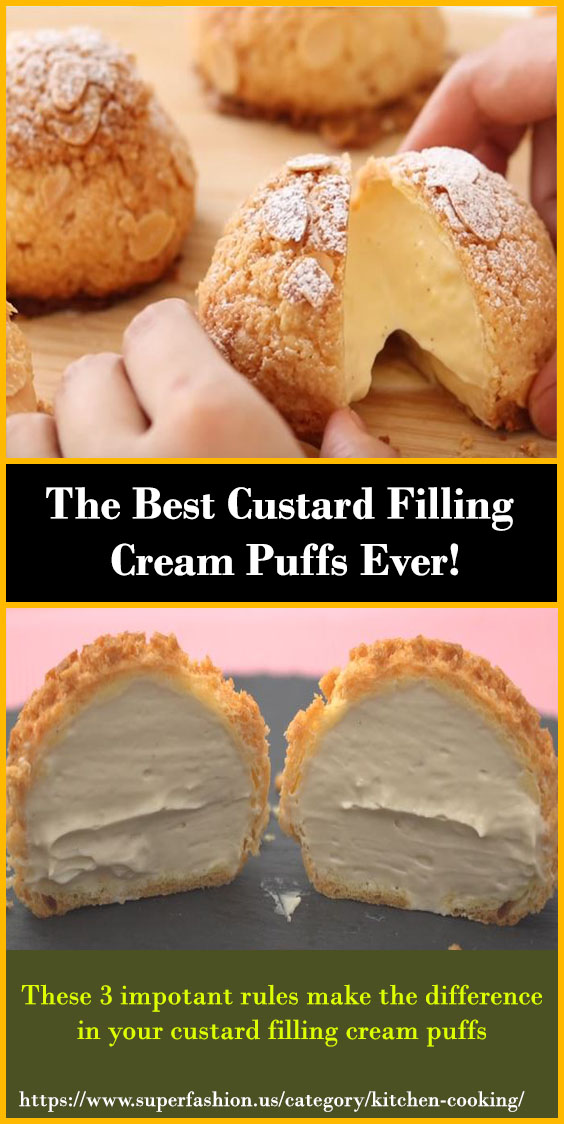 Custard Filling Cream Puffs