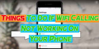 Wifi Calling Not Working