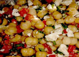 marinated chickpeas salsa