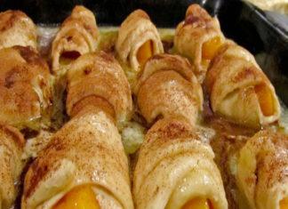 Peach Roll Up Dessert