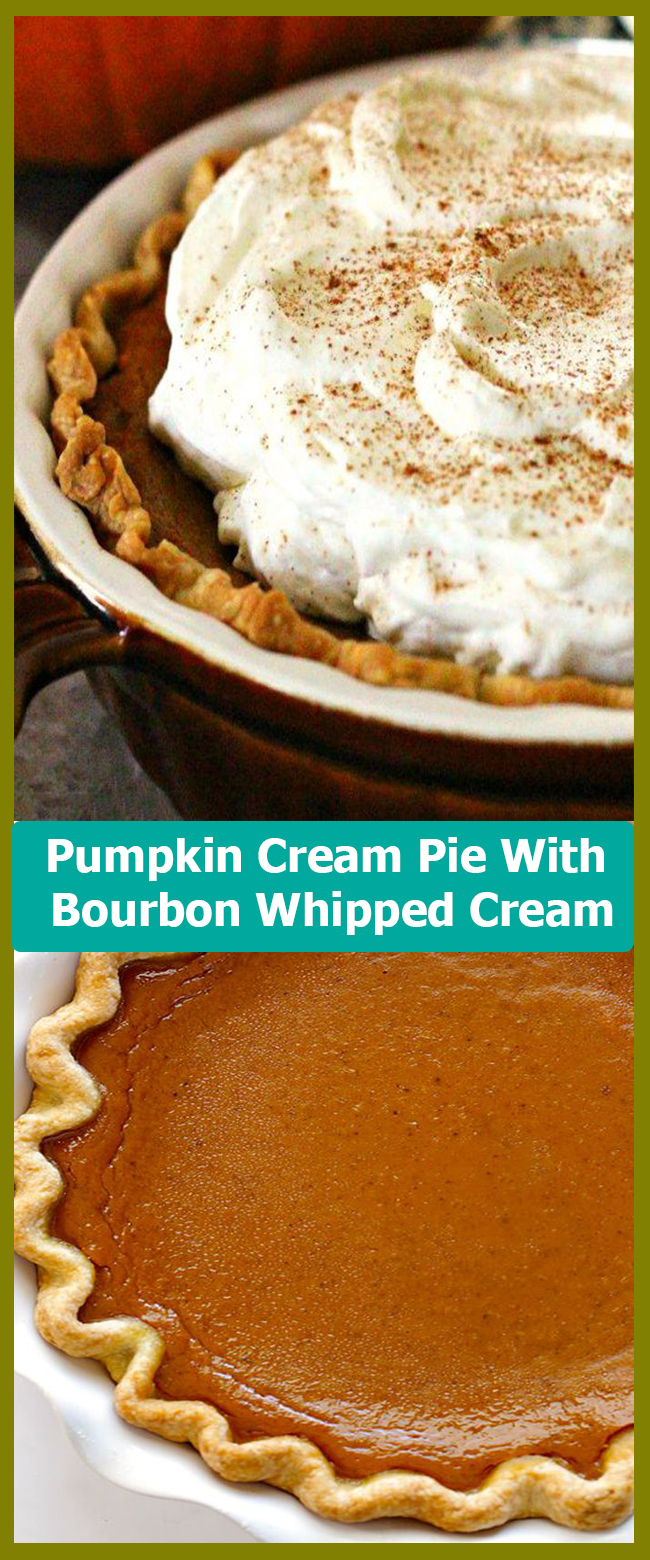 Pumpkin Cream Pie With Bourbon Whipped Cream