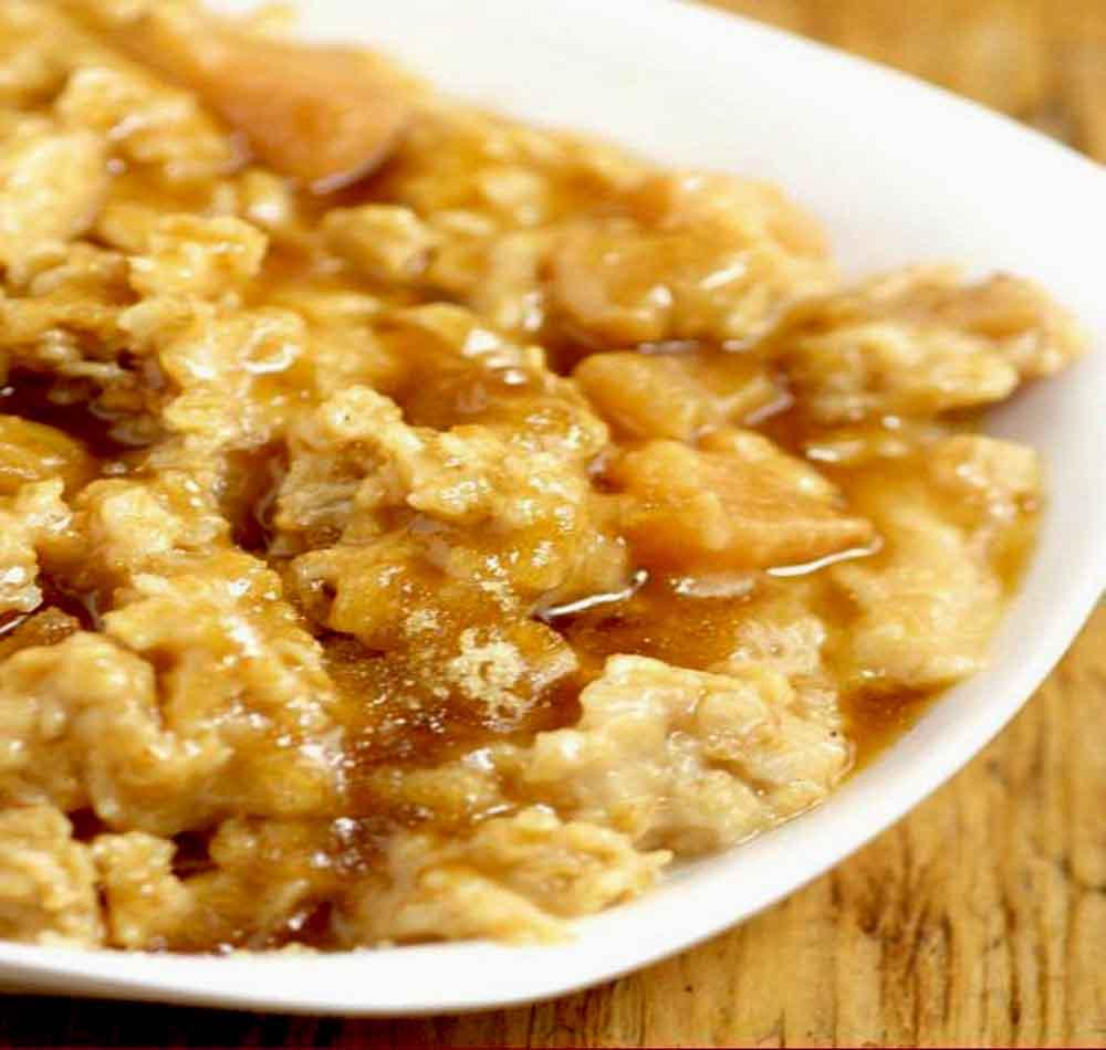 Crockpot Apple Oatmeal