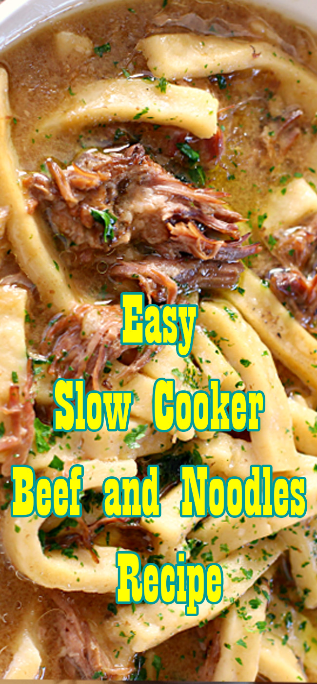 Slow Cooker Beef and Noodles