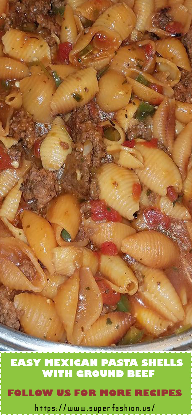 pasta shells with ground beef recipe