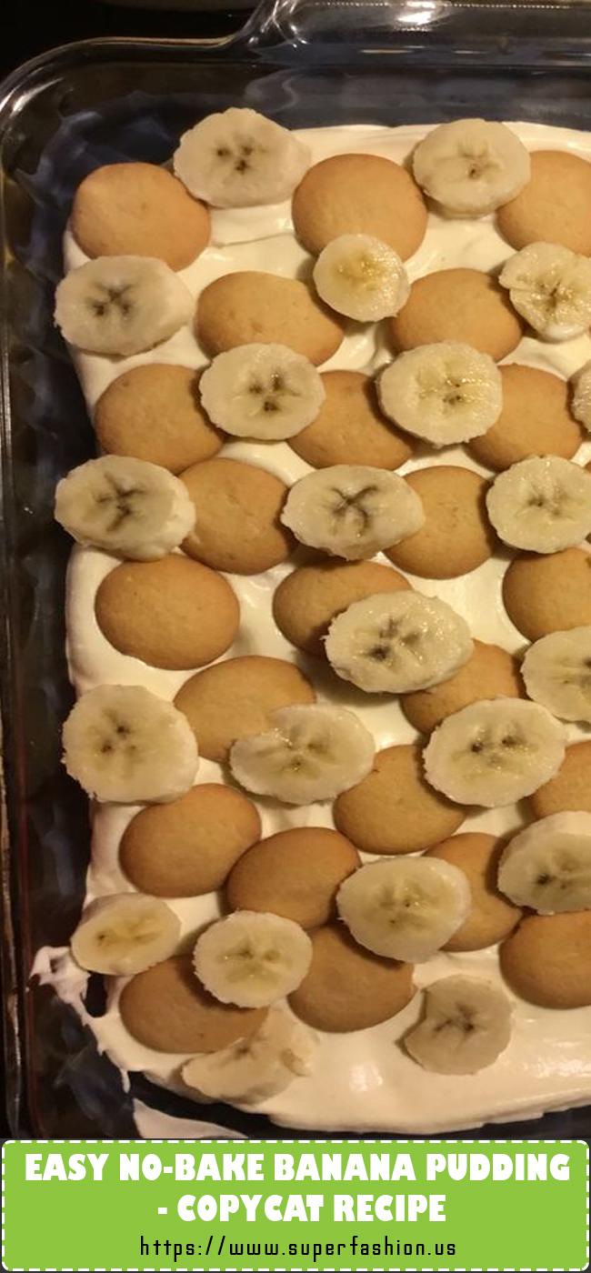 no-bake banana pudding