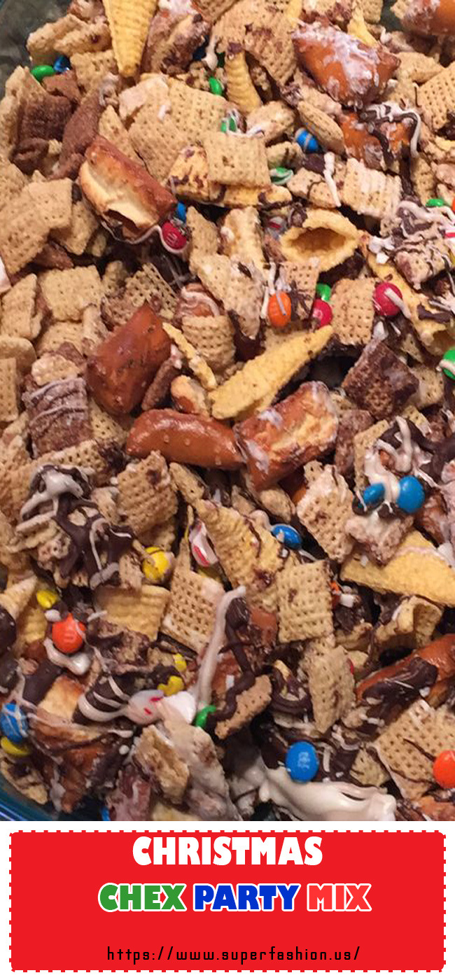 Christmas Chex party mix recipe