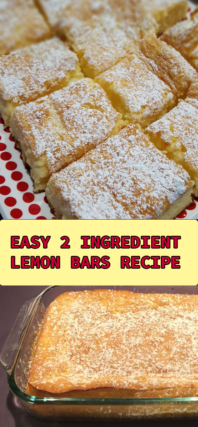 2 ingredients lemon bars