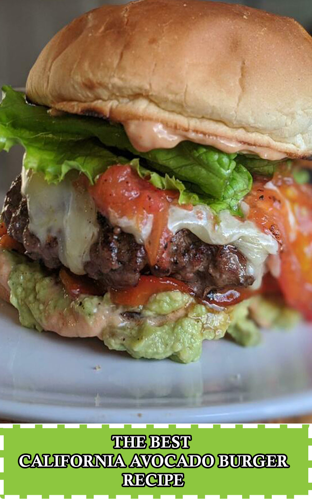 California avocado burger