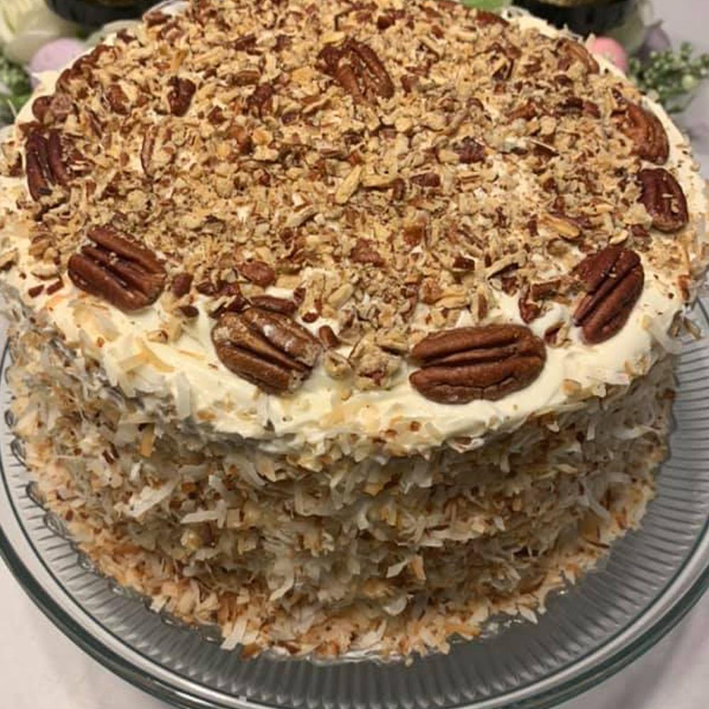 Italian three layers cream cake