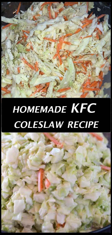 homemade KFC coleslaw
